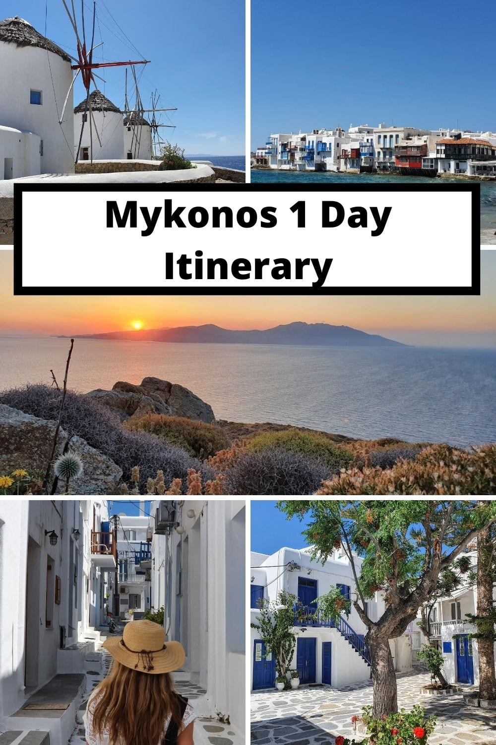 A perfect Mykonos itinerary for spending one day in Mykonos Greece