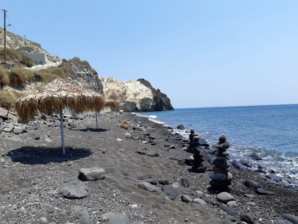 Mesa Pigadia is one of the lesser known beaches in Santorini