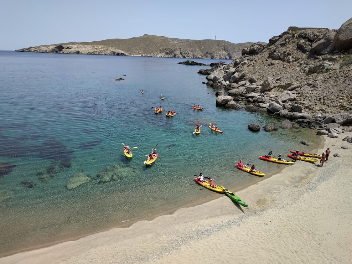 When it comes to amazing things to do in Mykonos, kayaking is one of the best!
