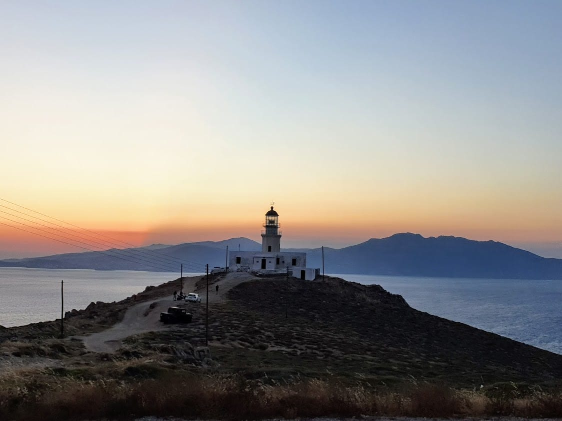 Armenistas Lighthouse Sunset Mykonos