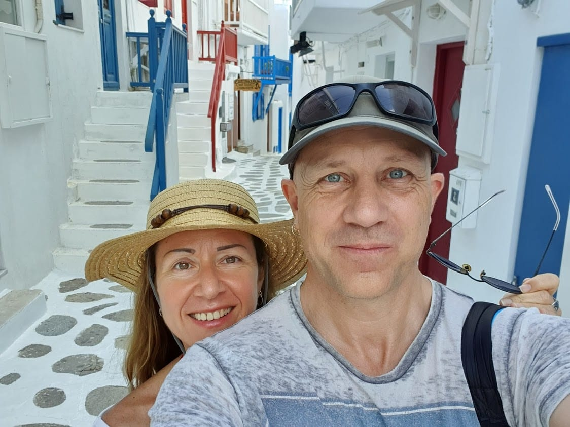 Dave and Vanessa in Mykonos Greece