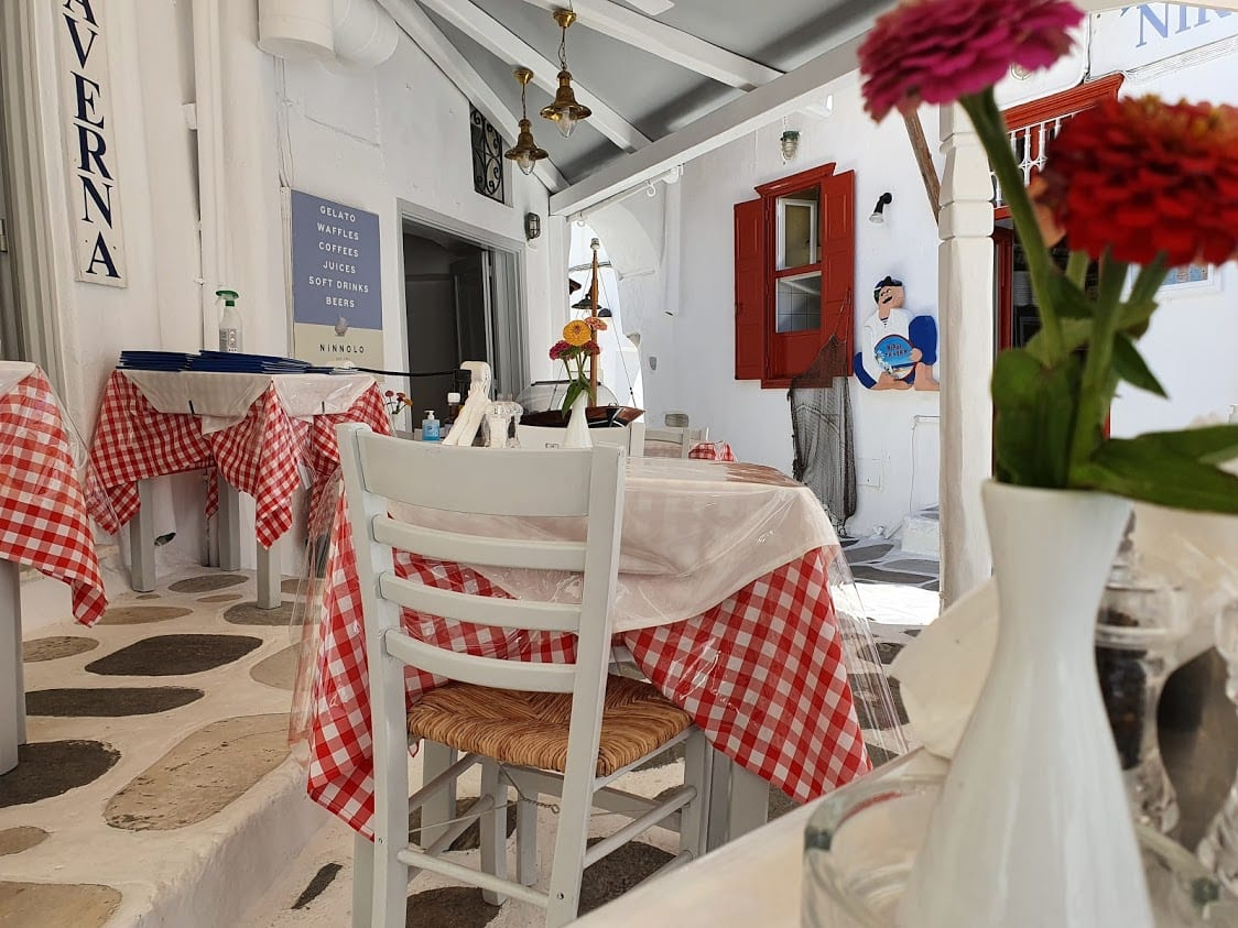 Nikos taverna in Mykonos Greece