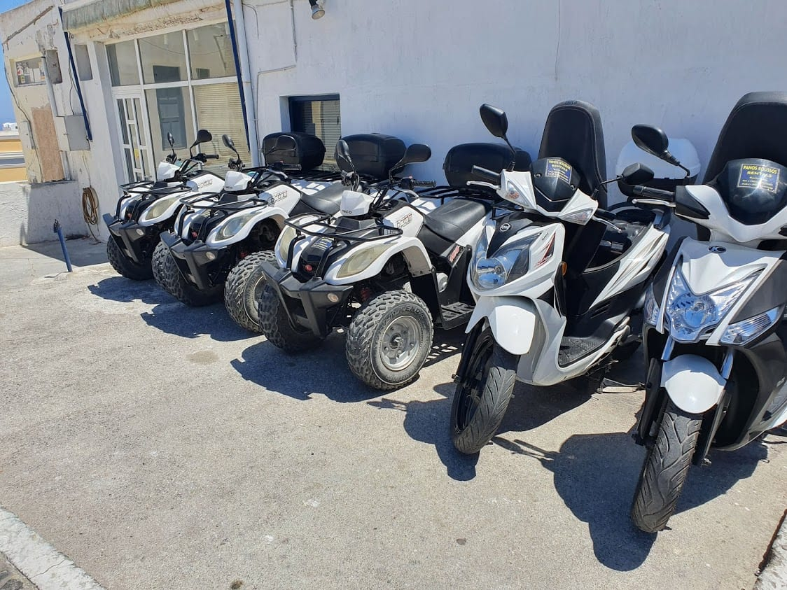 Quad bikes and scooters in Santorini Greece