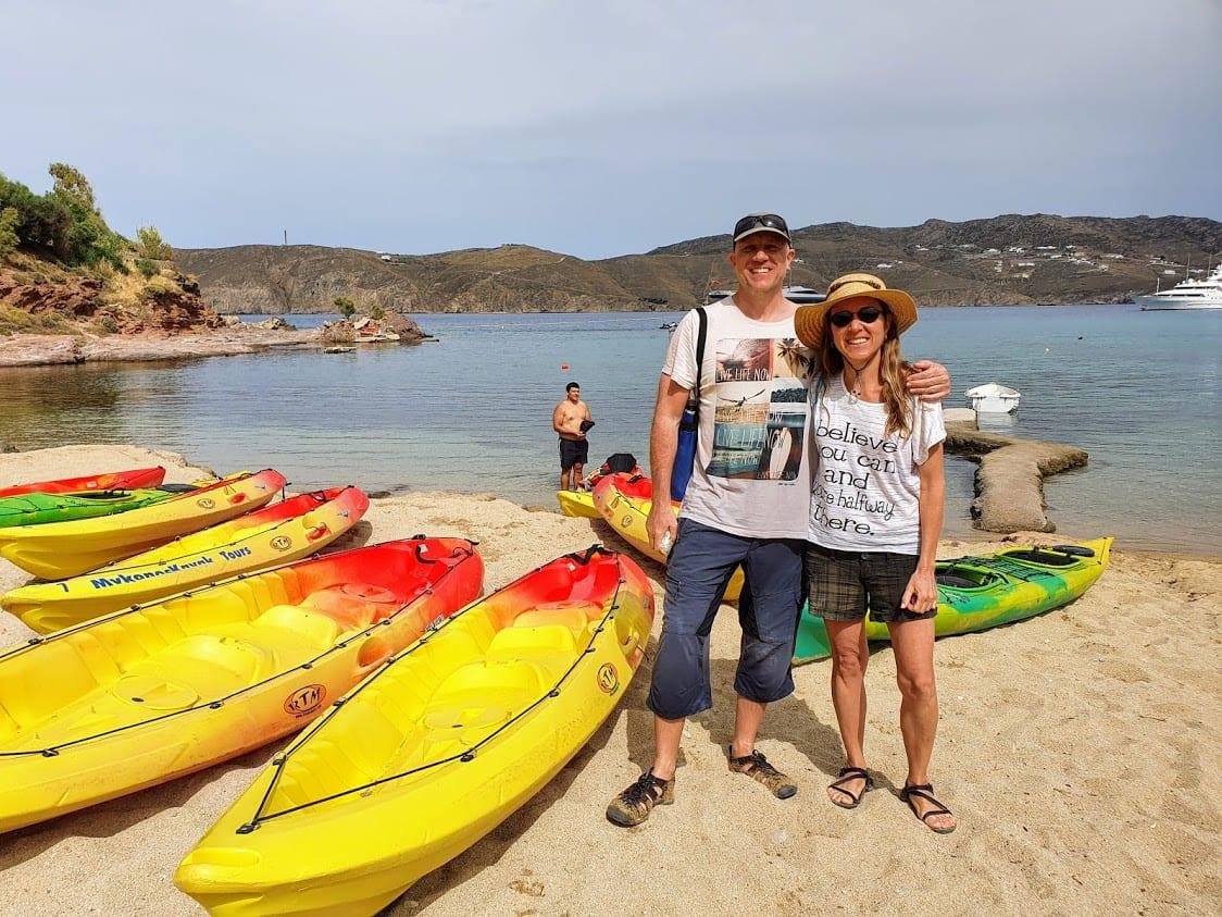 Kayaking tour in Mykonos