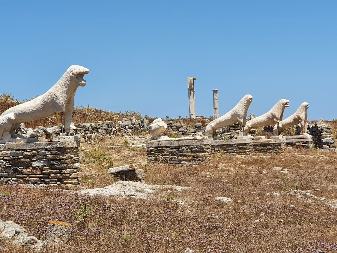 The famous Naxian Lions of Delos