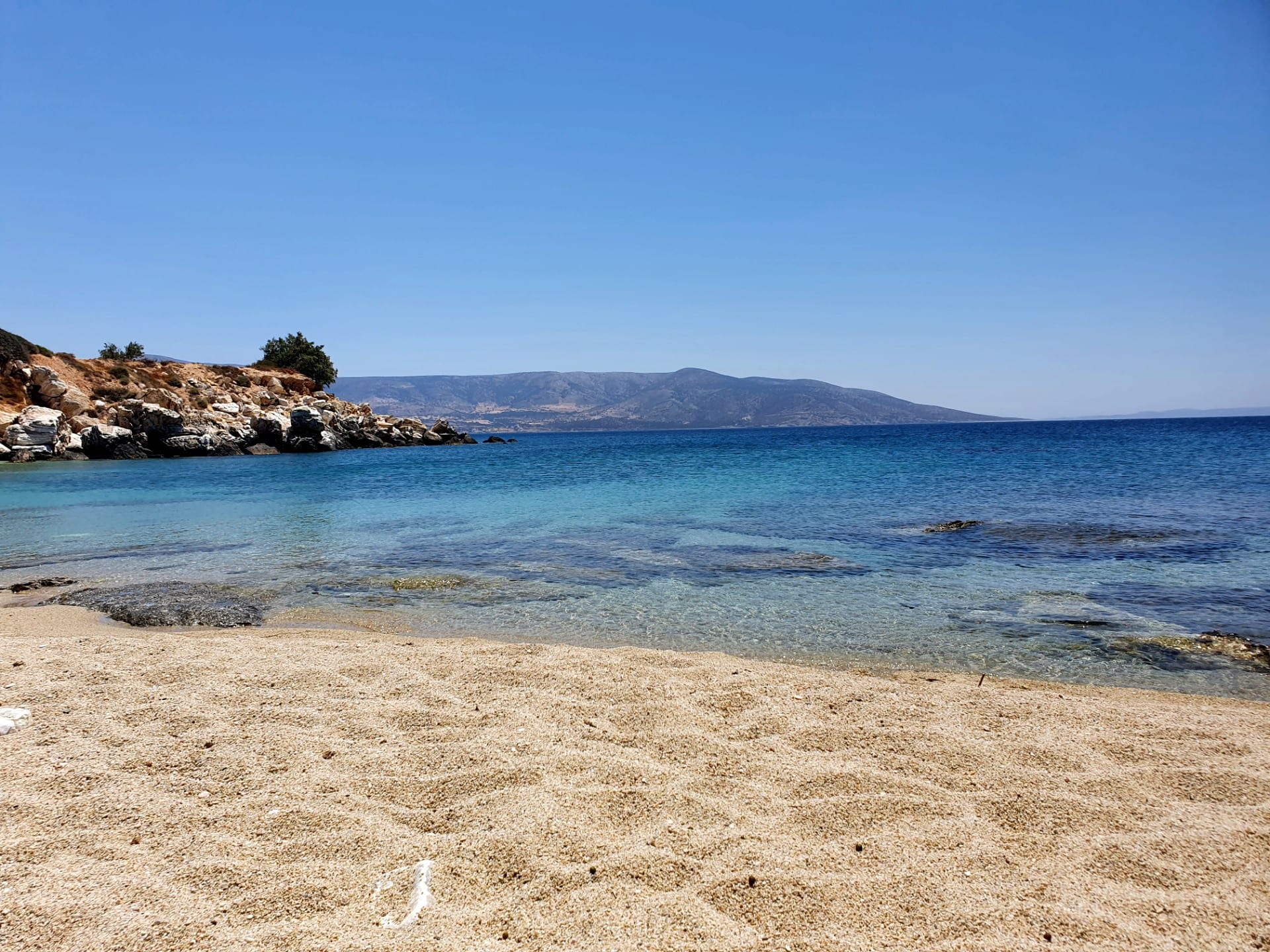 Our quiet bay at Alyko in Naxos