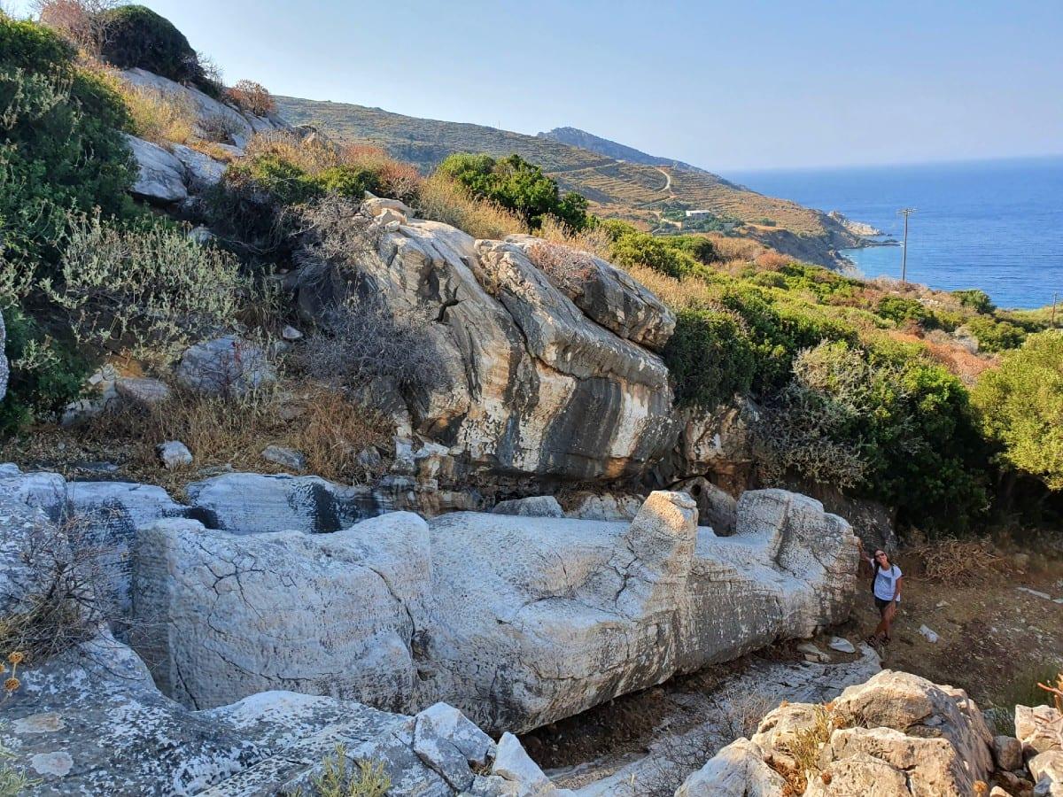 Apollonas Kouros Statue in Naxos