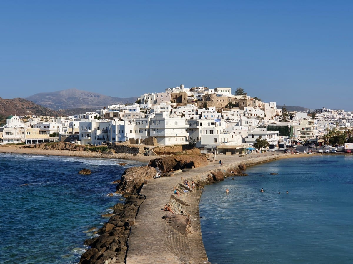 A view on to Naxos Town