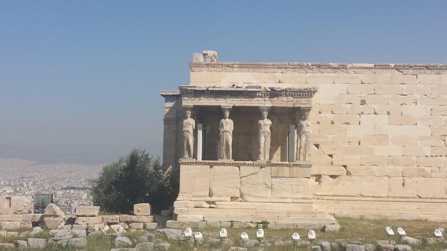 Erechtheion in the Acropolis of Athens