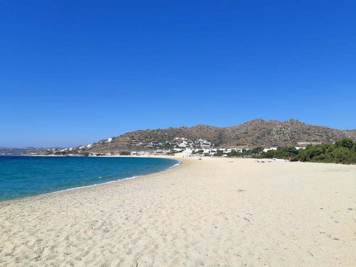 Glyfada beach on the island of Naxos in Greece