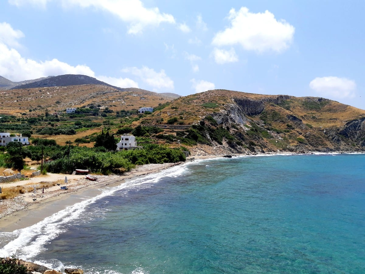 Kampos Beach in Naxos Greece