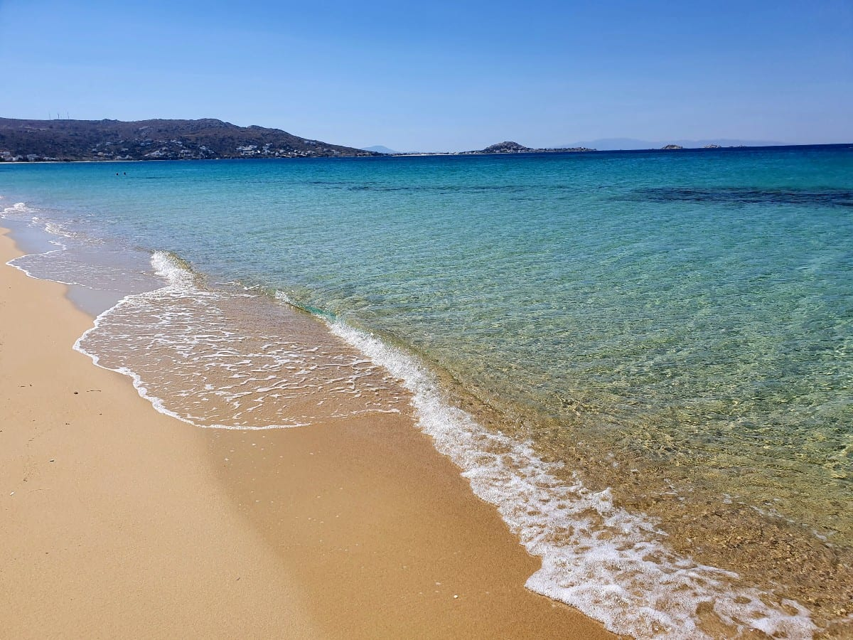 Plaka was our favourite beach in Naxos