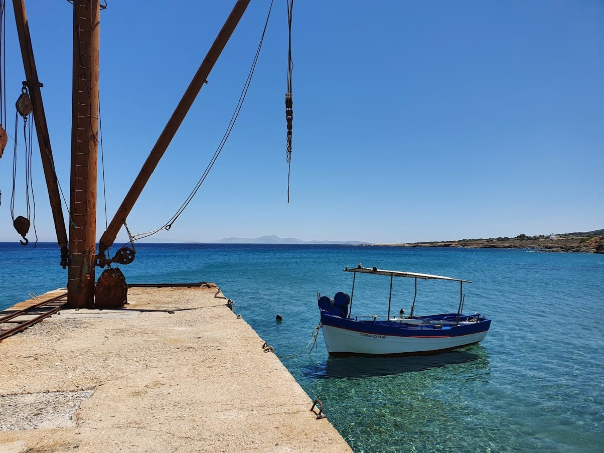A small fishing boat in Moutsouna, Naxos