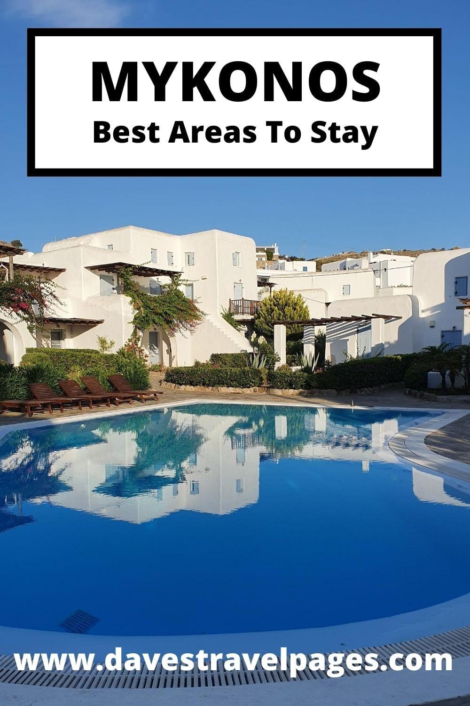 Where to stay in Mykonos Greece