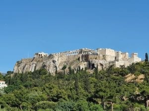 The Acropolis of Athens in Greece