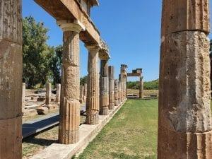 The Temple of Artemis in Vravrona Greece