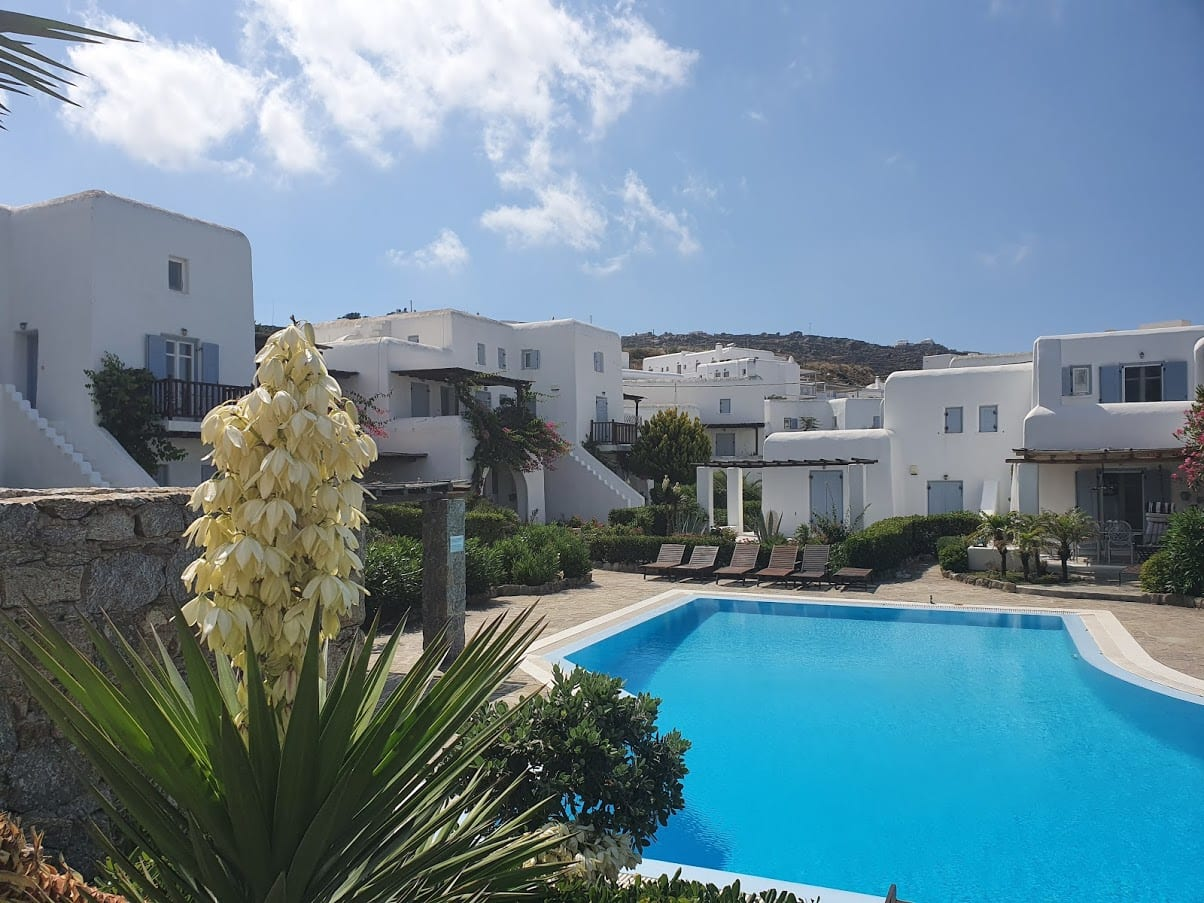 We stayed at the Pleiades Apartments in Ornos in Mykonos