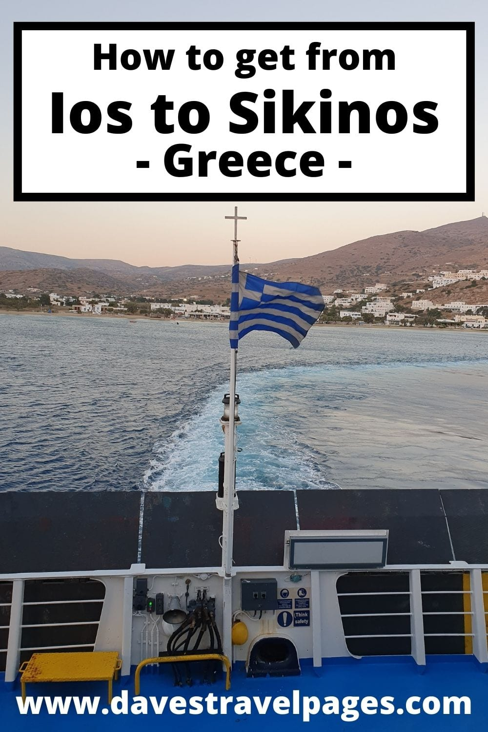 How to get from Ios to Sikinos island in Greece by ferry