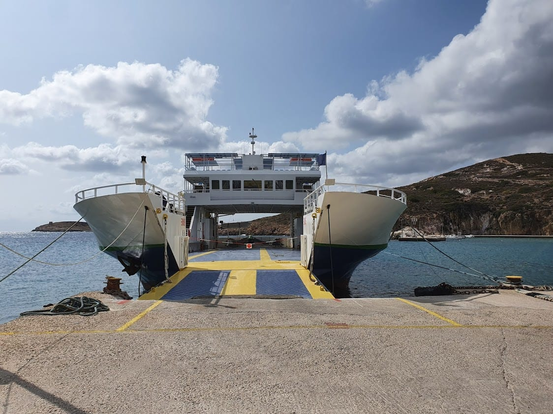 The Osia Methodia ferry waiting to be boarded