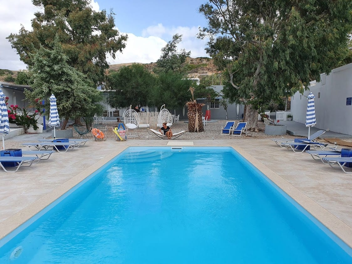 The swimming pool at the Thalasea Kimolos Hotel