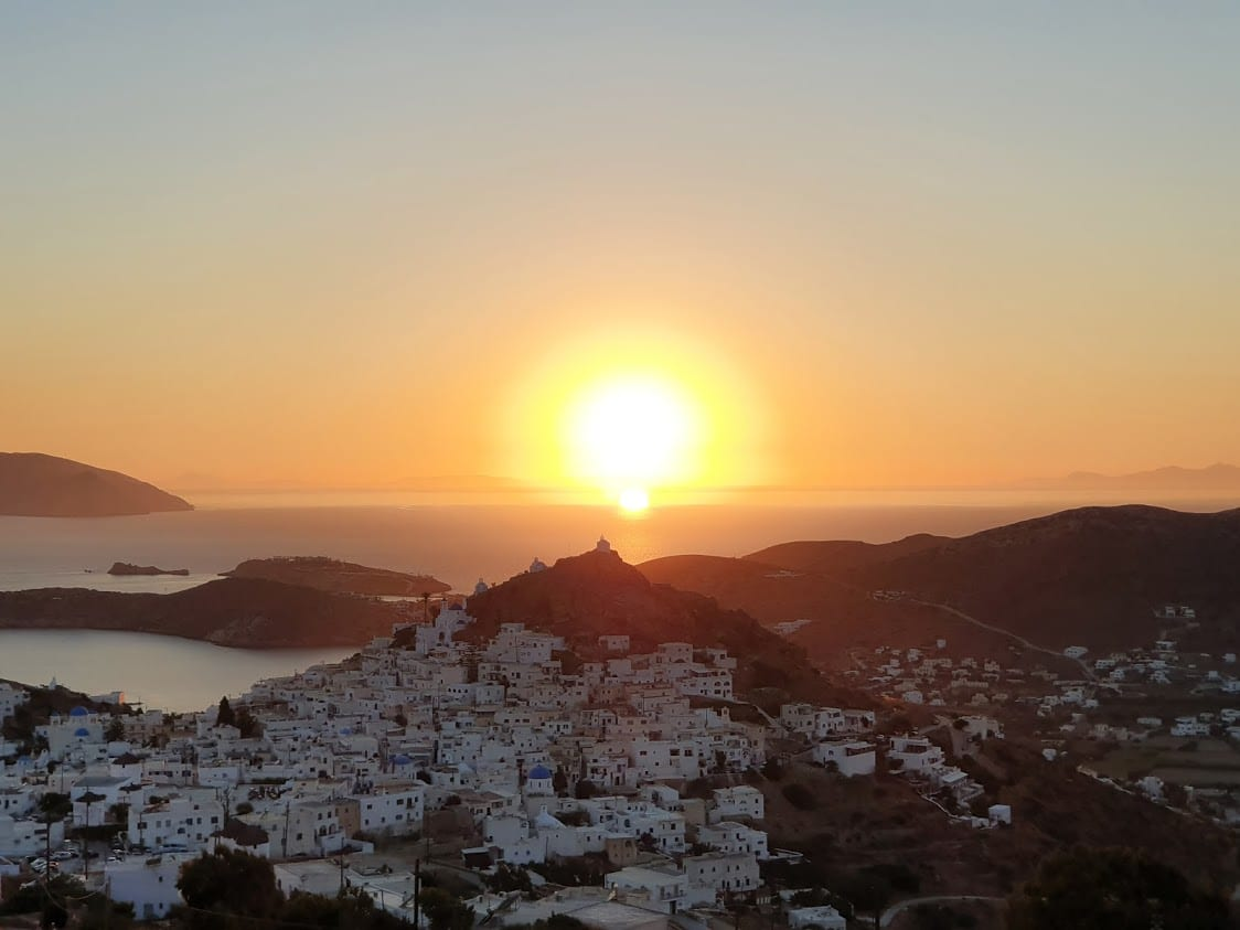 An awesome sunset spot in Ios Greece