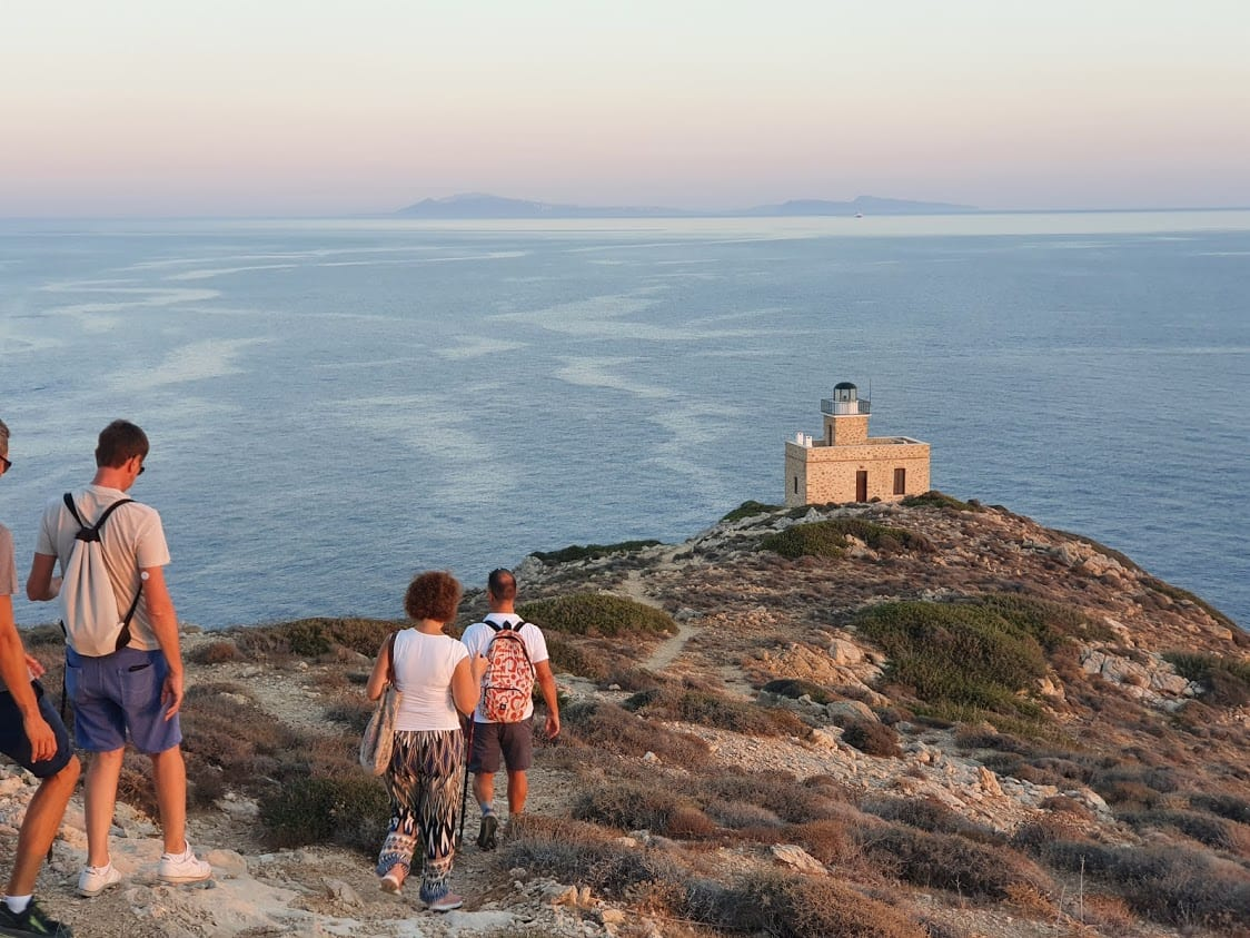 Hiking to Ios Lighthouse