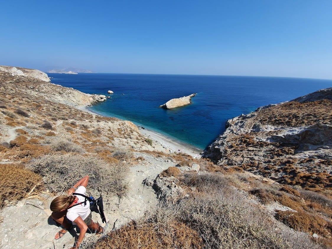 The return hike from Katergo Beach Folegandros