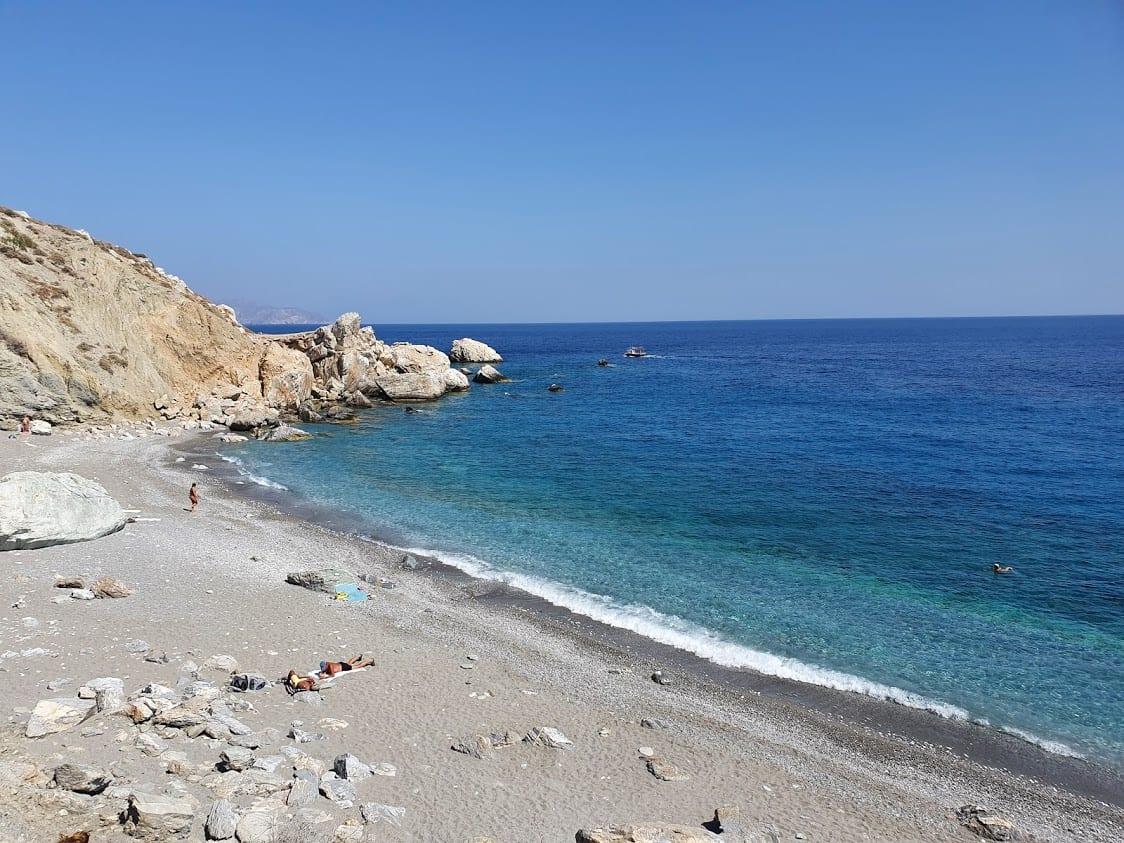 Katergo beach bay in folegandros