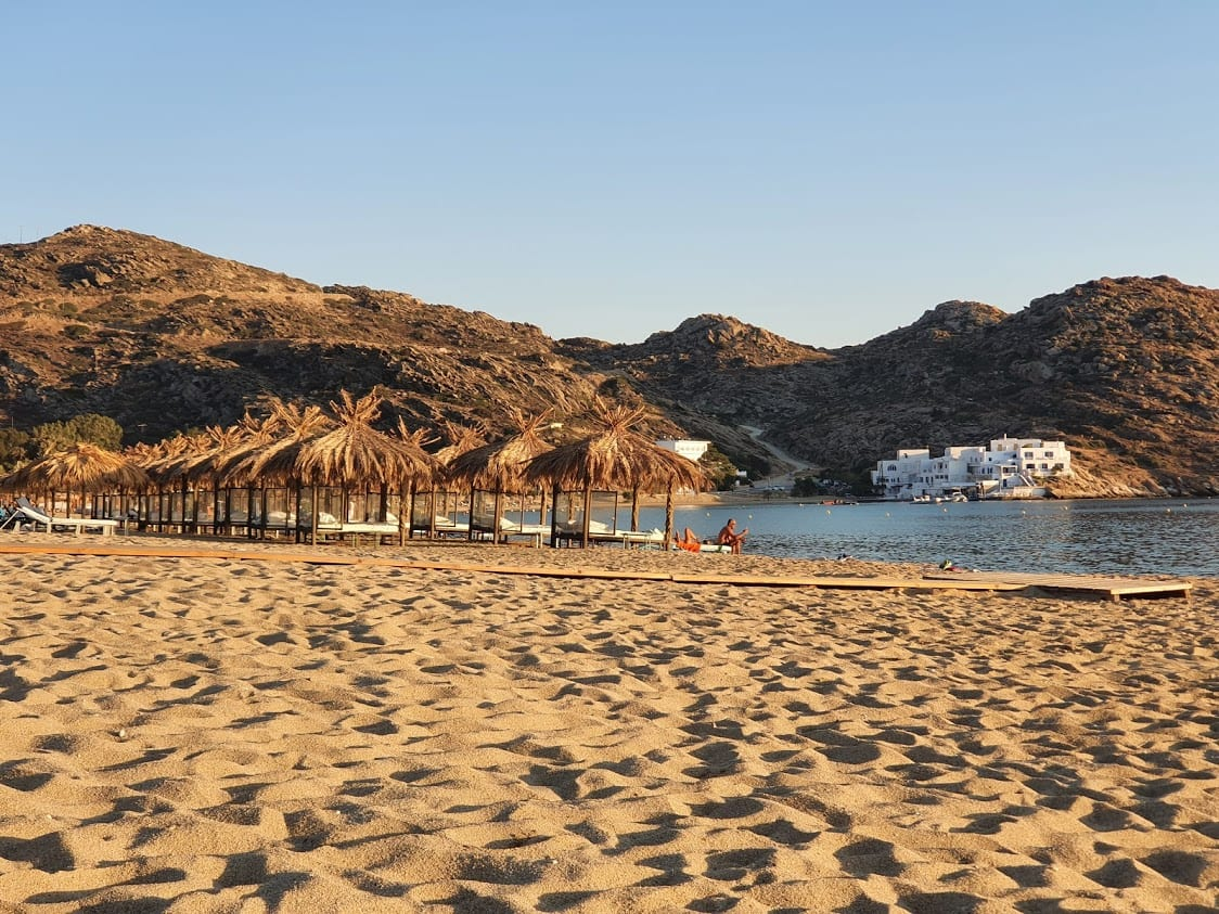 Milopotas beach in Ios, Greece