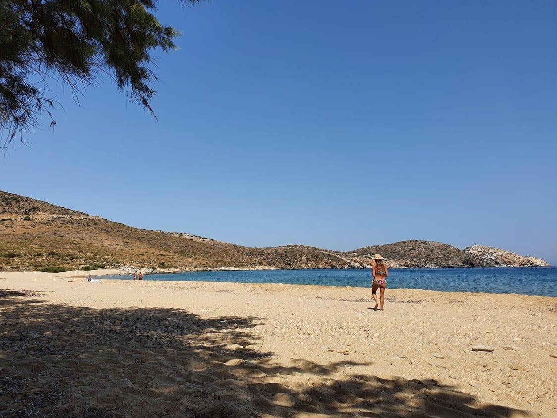 Psathi Beach in Ios Greece