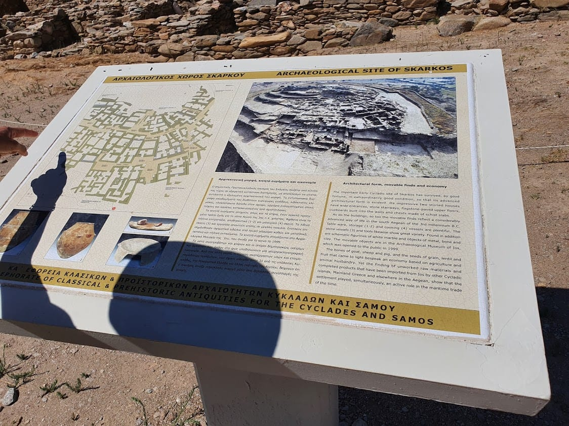 An information board in the site of Skarkos