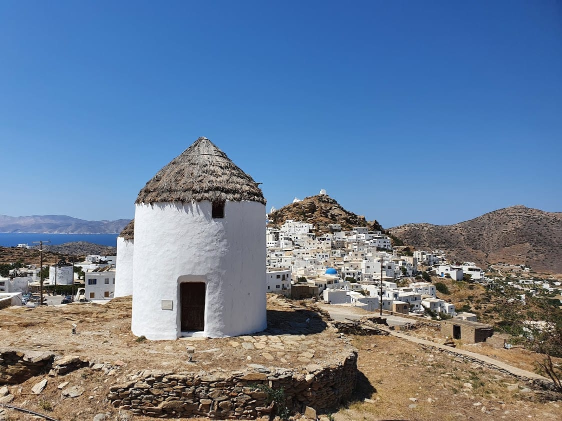 The windmills of Ios in Greece