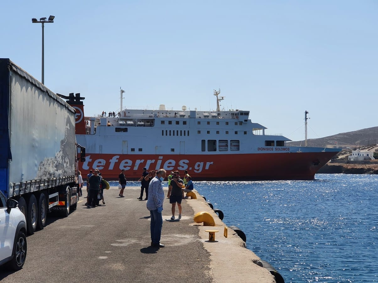 Taking the Zante ferries from Folegandros to Kimolos