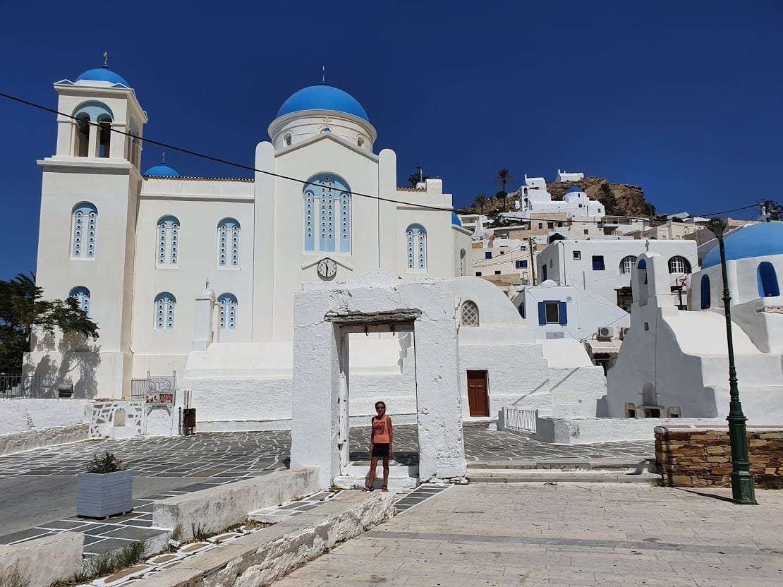 Chora in Ios is just above the main port