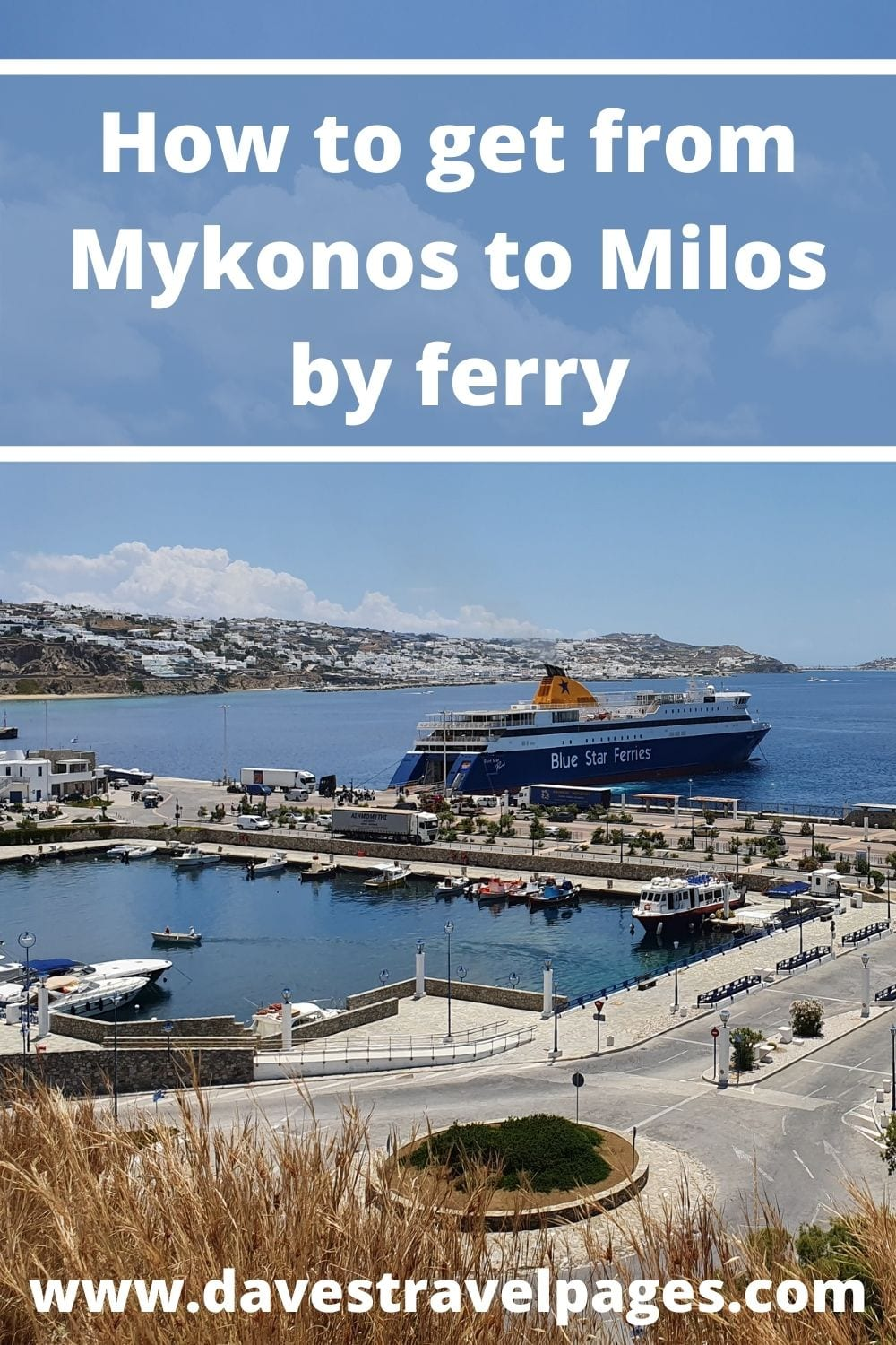 How to get from Mykonos to Milos in Greece