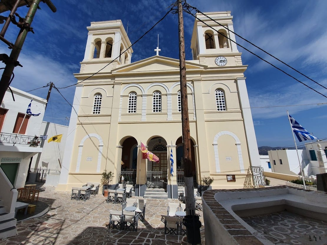 Panagia Odigitria church in the main town on Kimolos island Greece