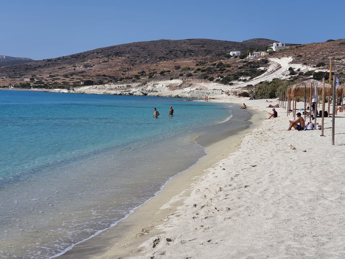 Prassa beach in the island of Kimolos, Greece