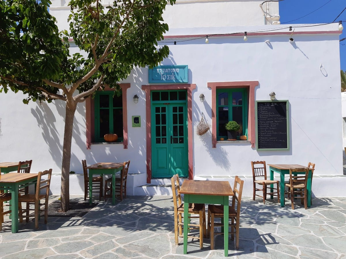 Sik taverna in Folegandros island