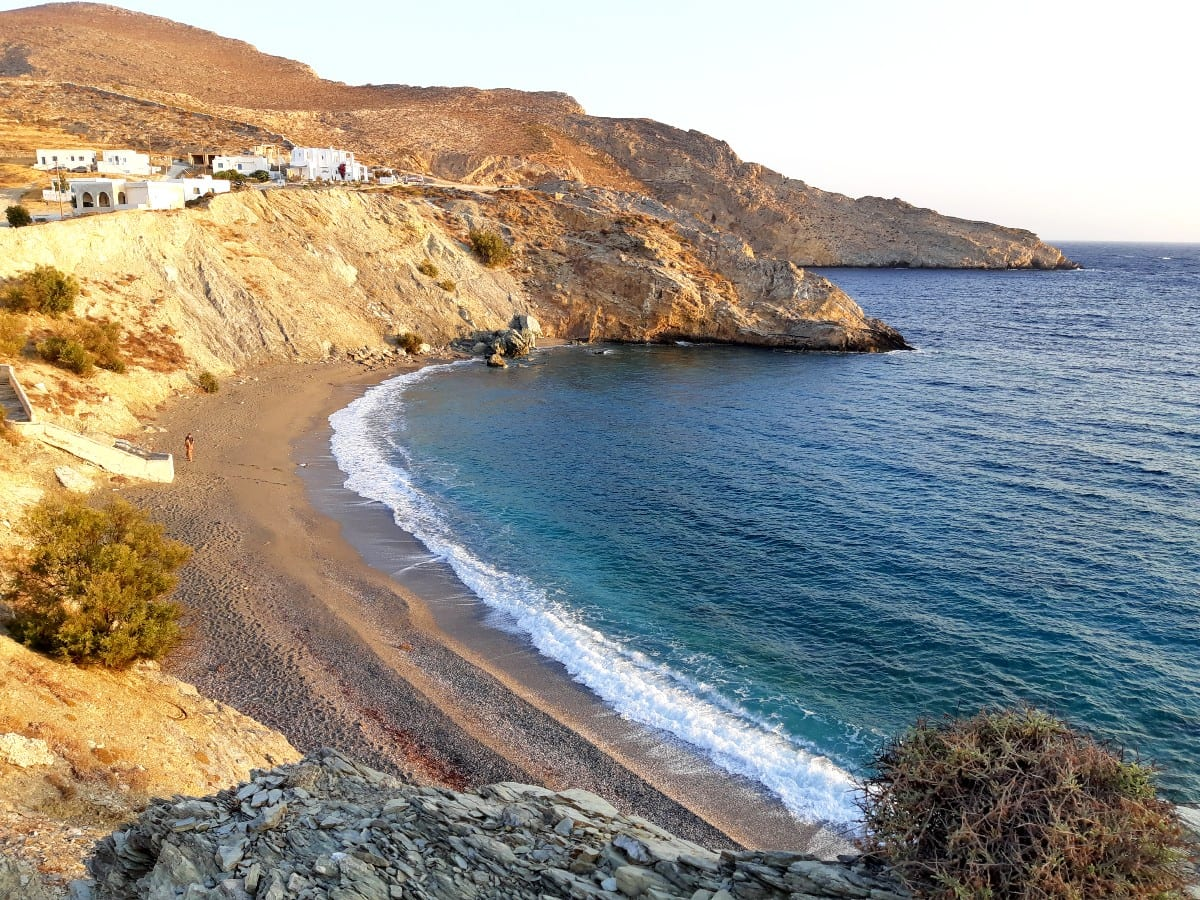 Vardia Beach in Folegandros Island