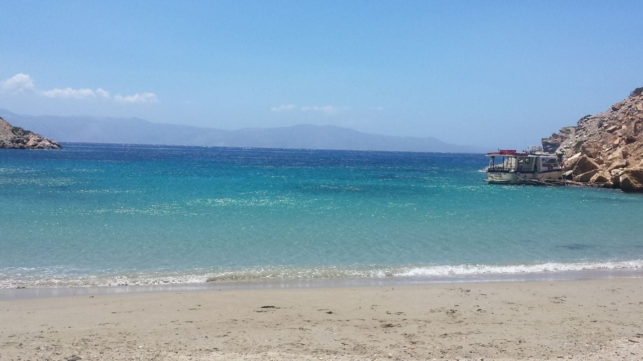 A beach in Iraklia Greece