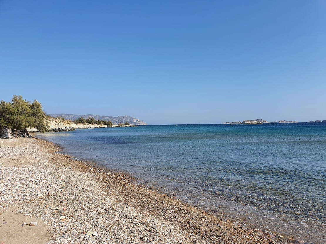 Aliki beach in Kimolos island greece