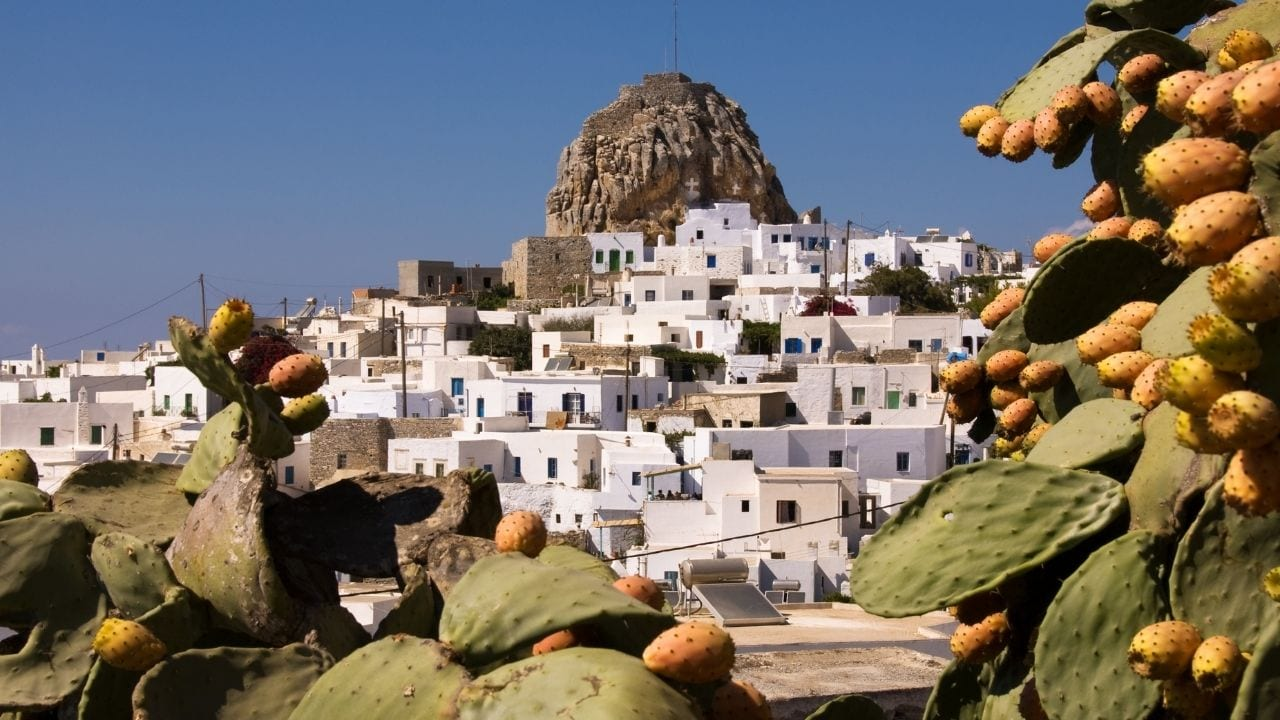 The Cycladic island of Amorgos in Greece