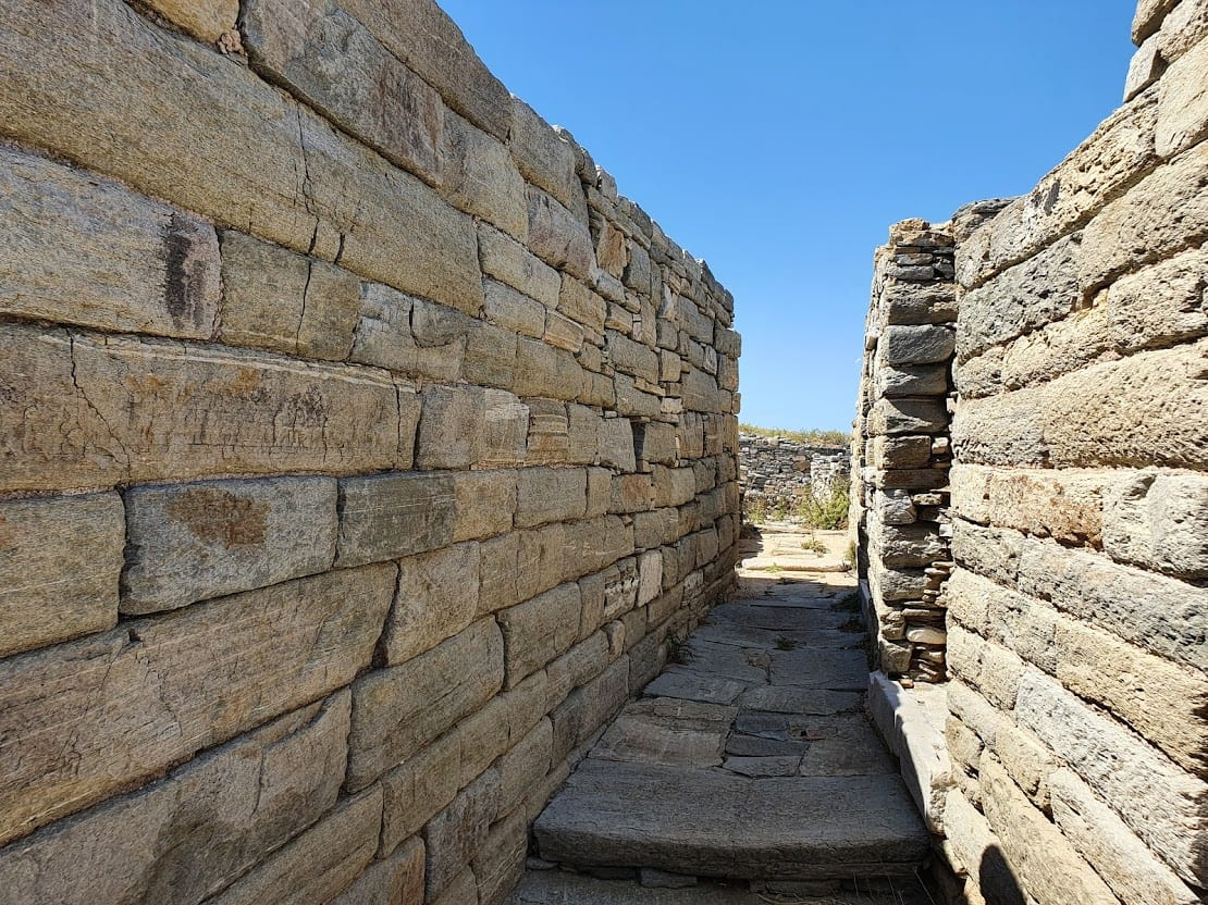 An ancient street in Delos