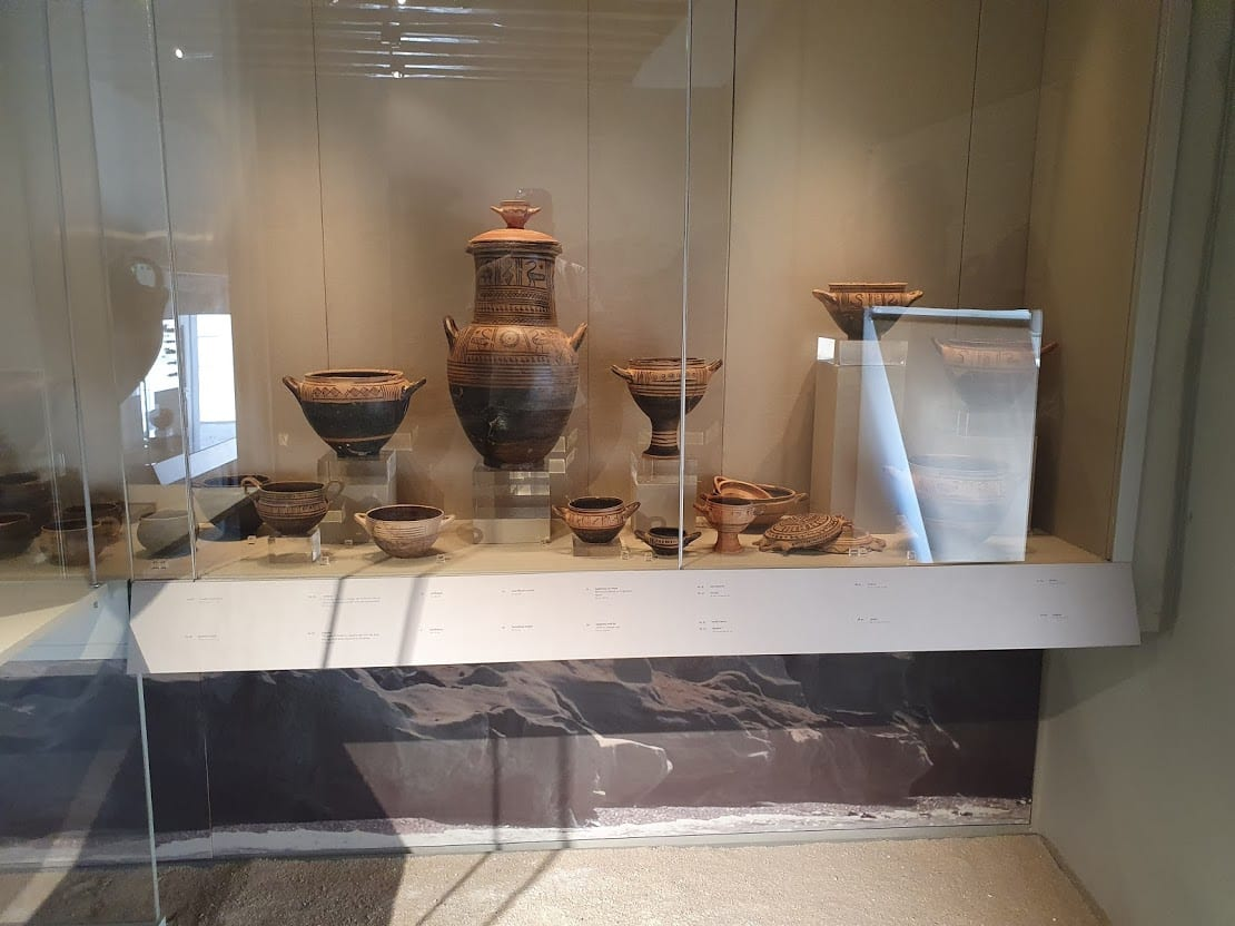 A display inside the archaeological museum of Kimolos island