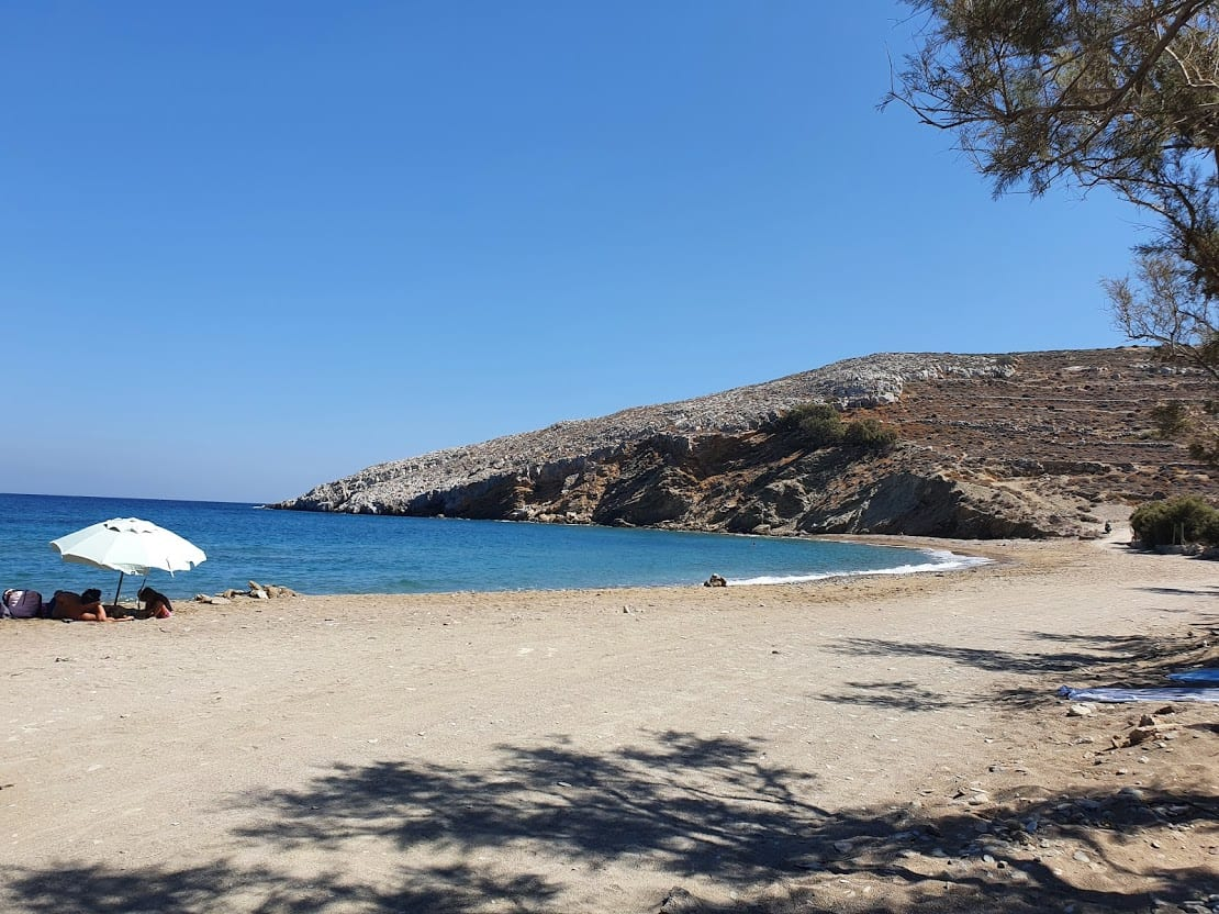 Relaxing on a beach in Folegandros