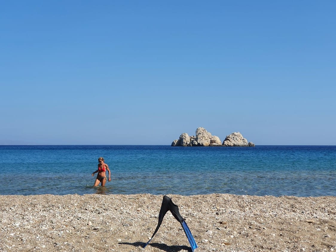 Snorkeling off the beaches in Sikinos