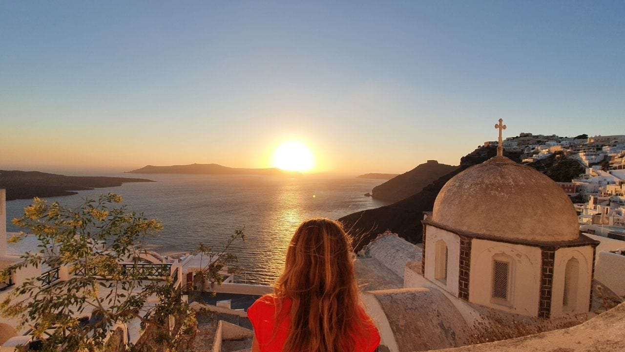 The caldera view in Santorini is one of the most famous Greek attractions