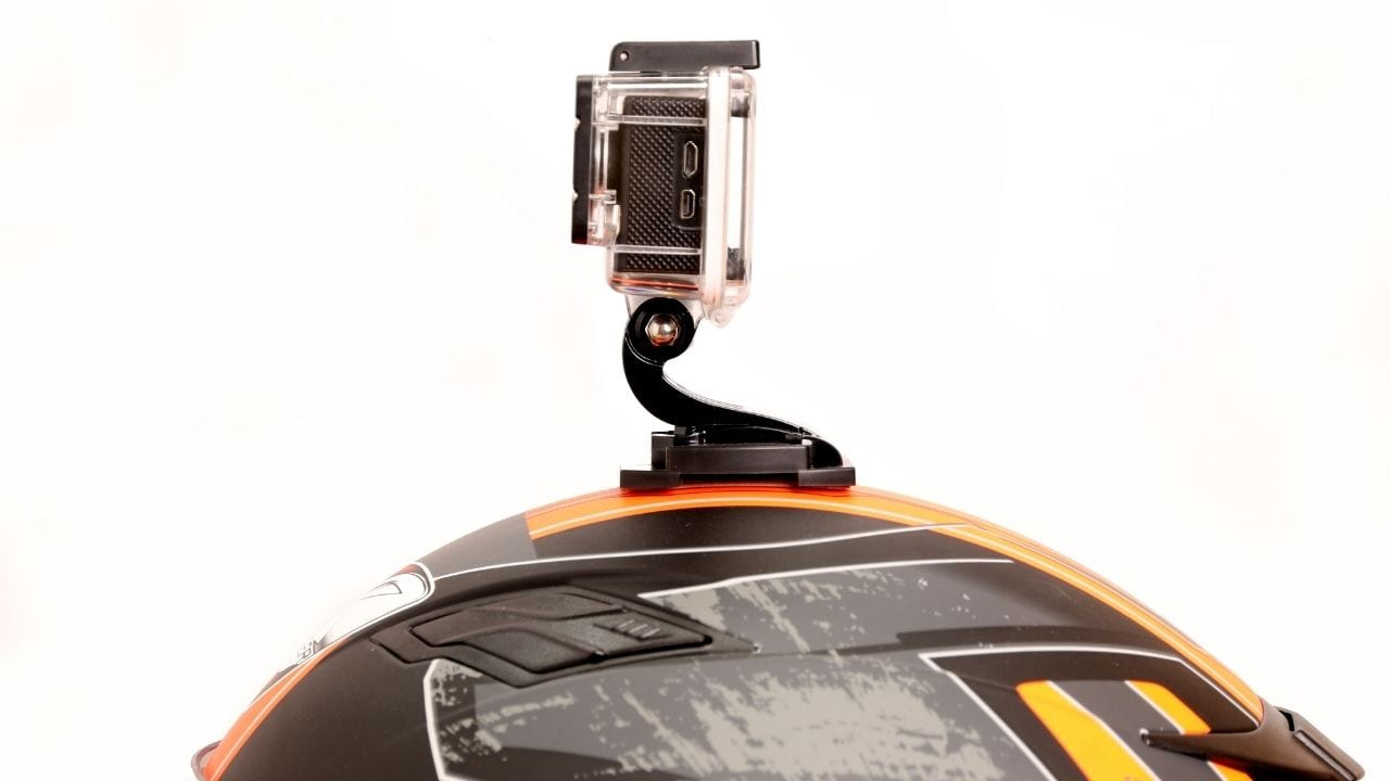 Cycling camera on a helmet