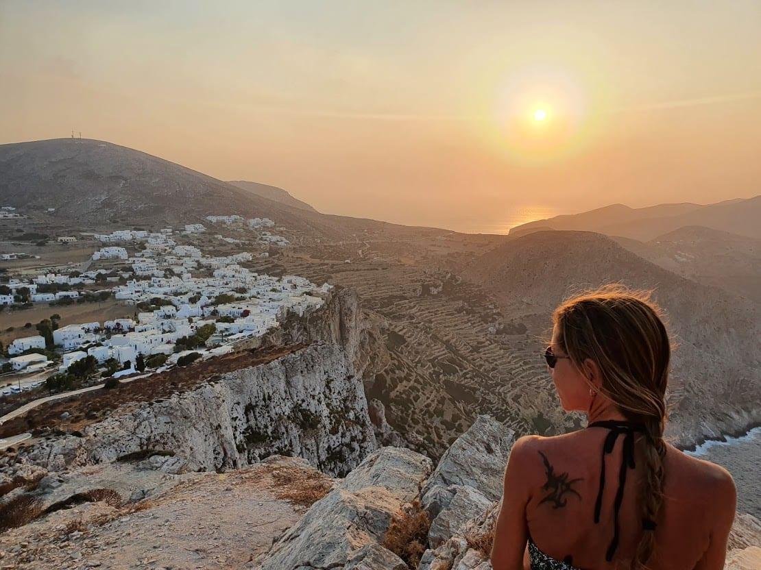 Enjoyingthe sunset at Folegandros