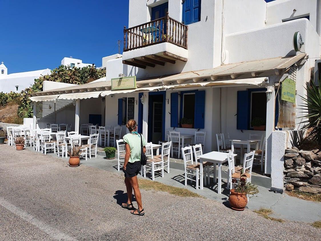The Kapari taverna on the Greek island of Sikinos